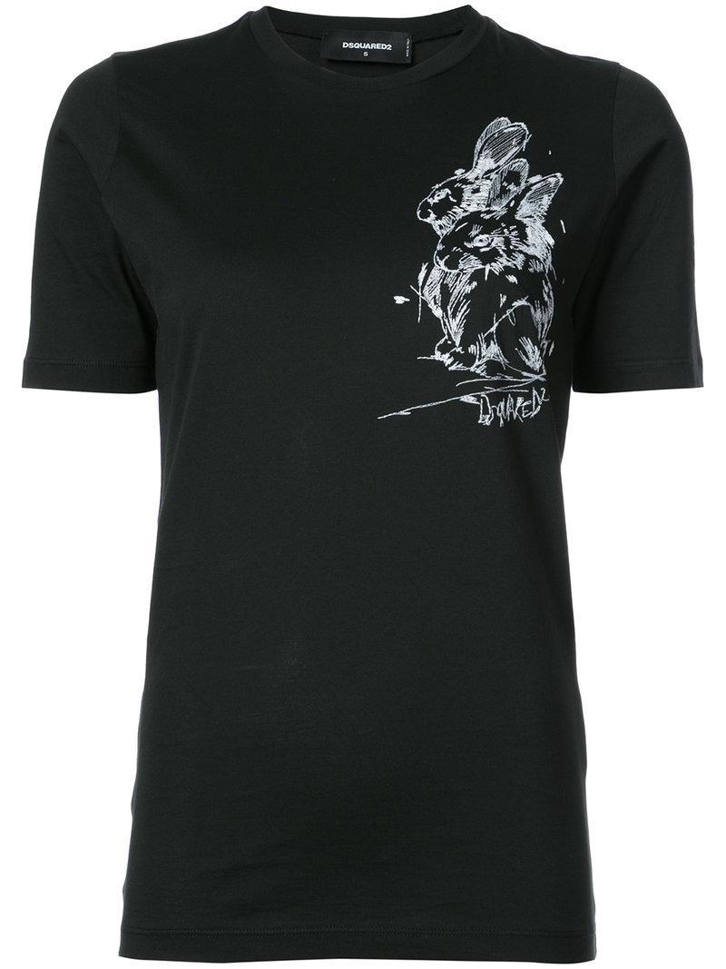 Dsquared2 Rabbit Printed T-Shirt