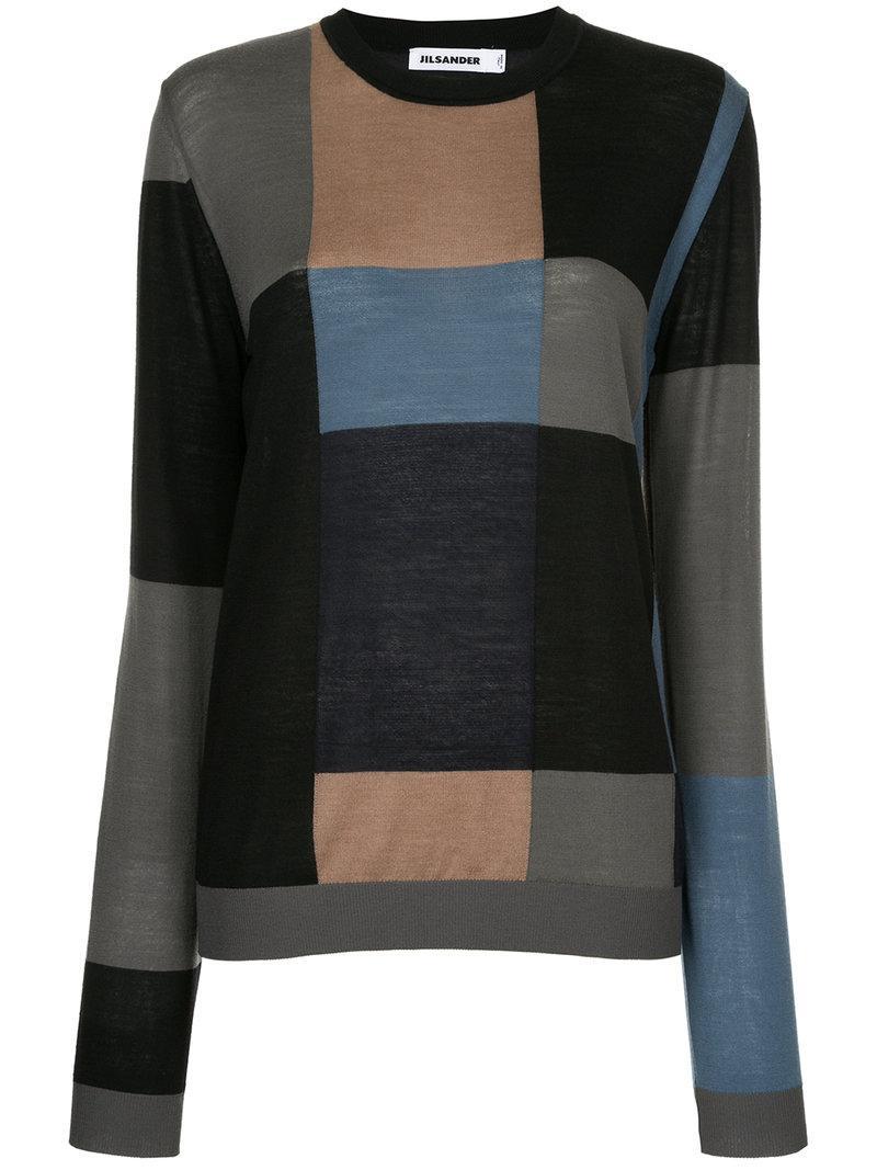 Jil Sander Patterned Crew Neck Sweater
