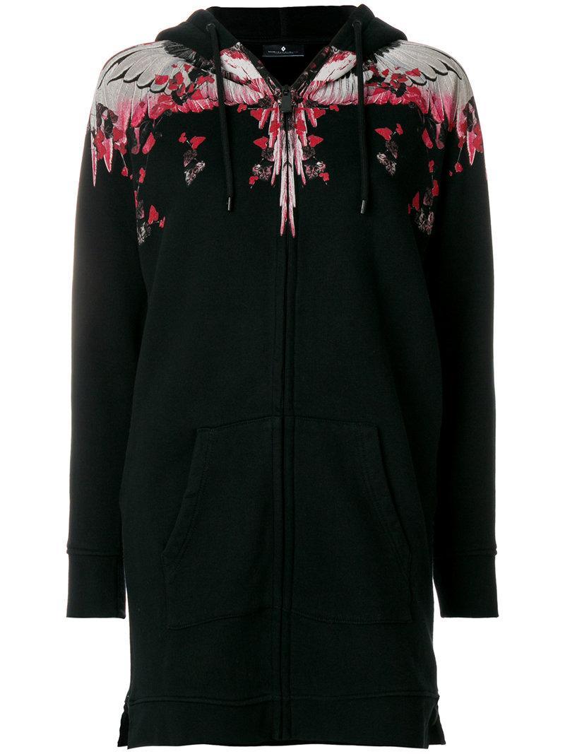 Marcelo Burlon County Of Milan Black & Pink Kolpoke Zip Hoodie In Nero