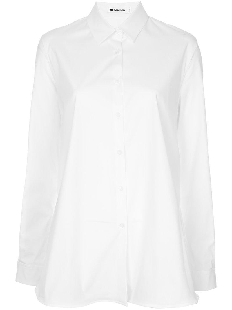 Jil Sander Long Sleeved Shirt In White