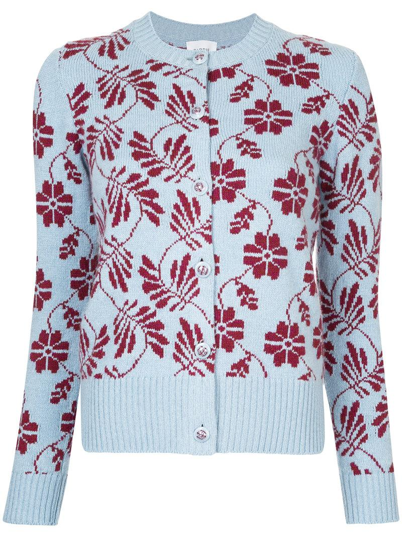 Barrie Floral Round Neck Cardigan