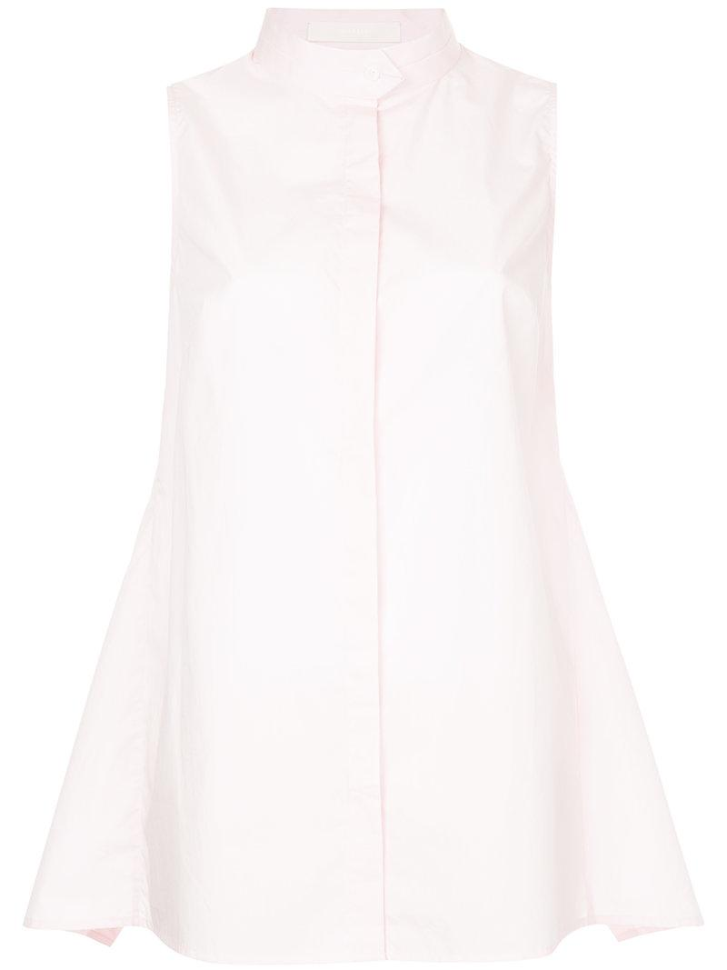 Dion Lee Gathered Sleeveless Shirt In Pink