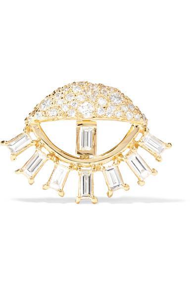 Ileana Makri Sleepy Eye 18-Karat Gold Diamond Earring