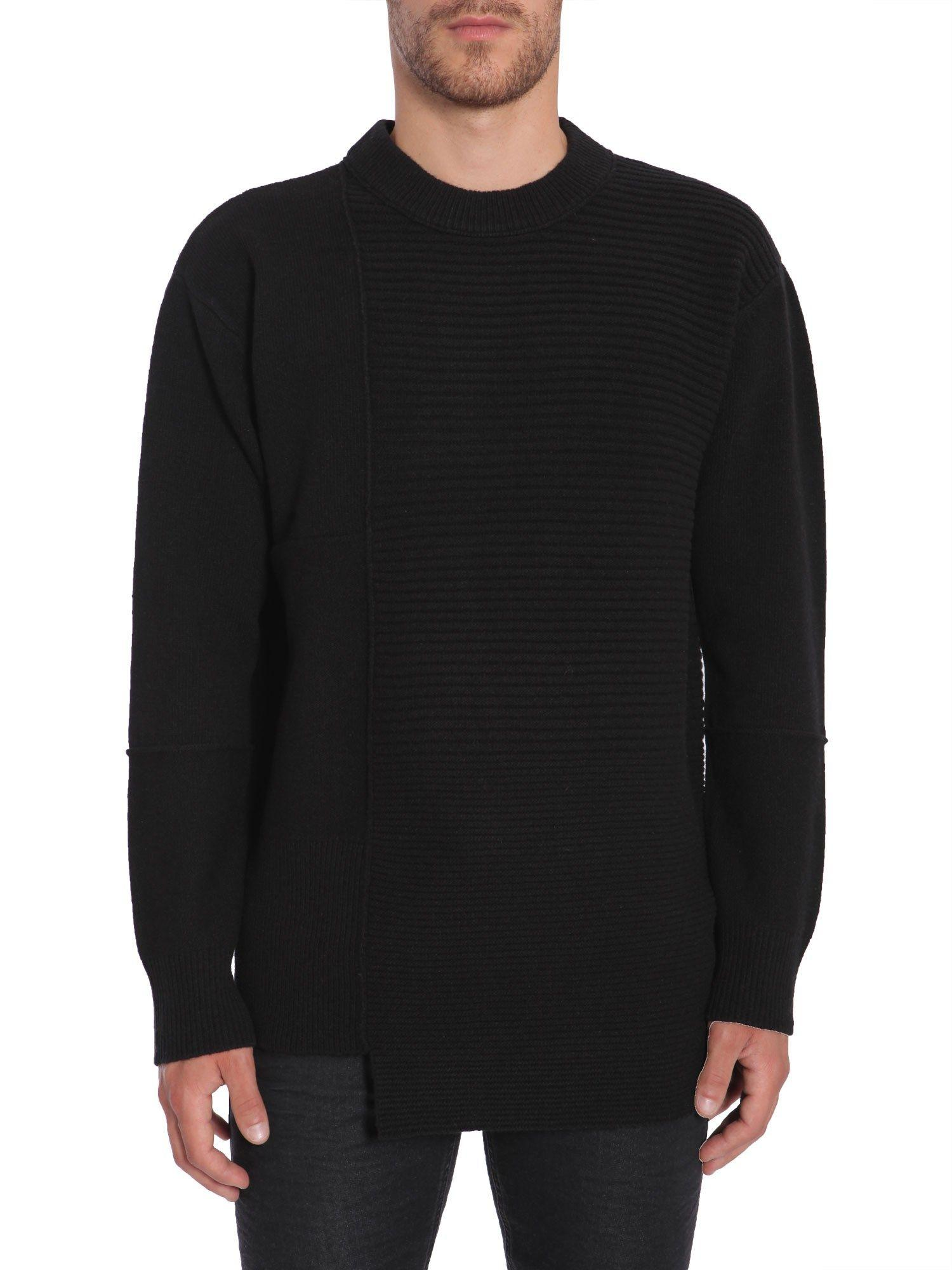 Diesel Black Gold Round Collar Sweater In Nero