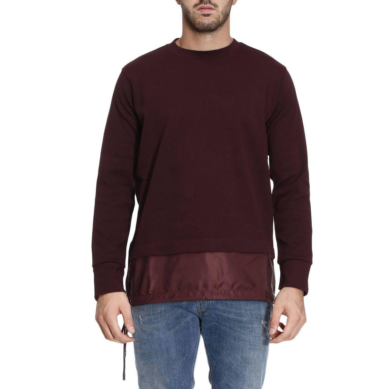 Diesel Black Gold Sweatshirt Sweater Men  In Burgundy