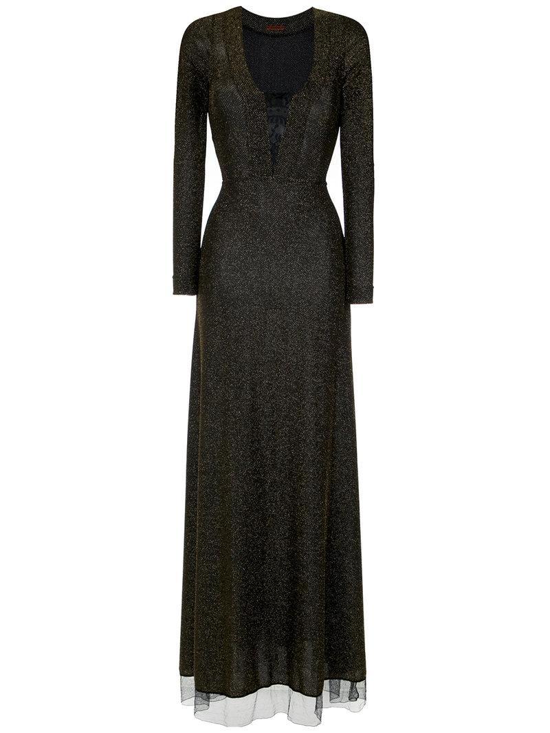 À La GarÇOnne Lurex Gown - Black