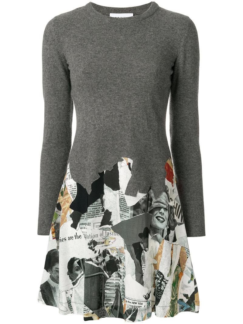 Moschino Panelled Dress In Grey