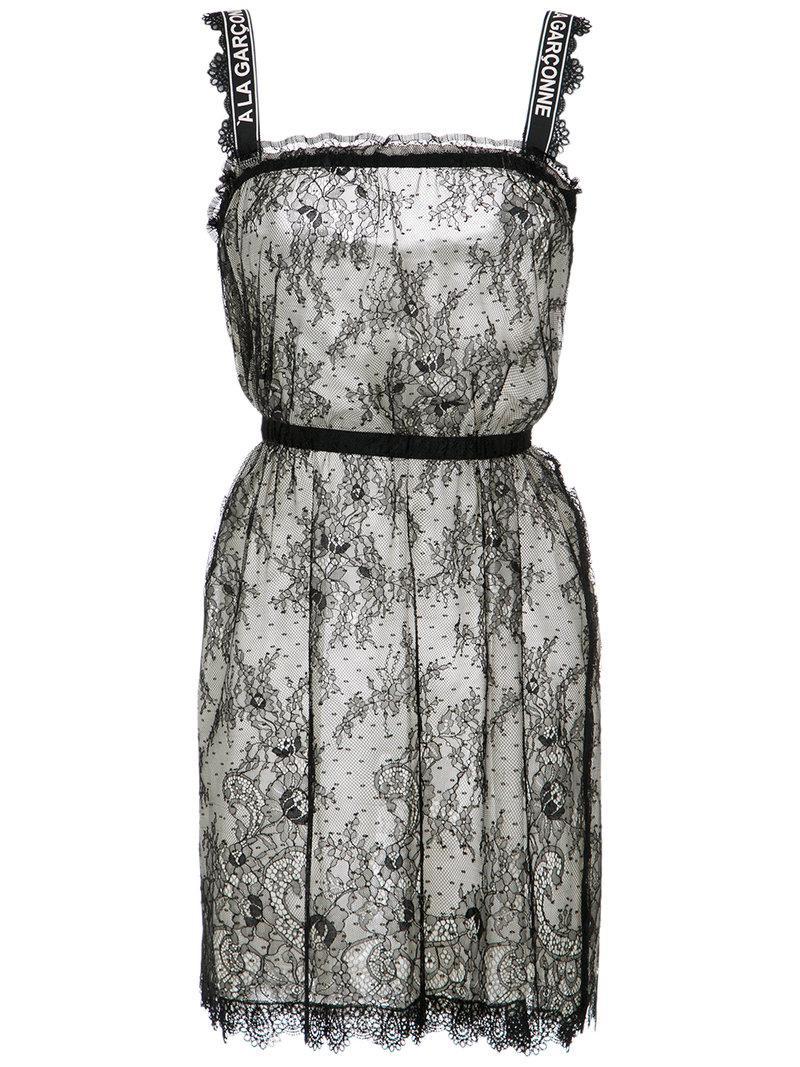 À La GarÇOnne Lace Dress - Black
