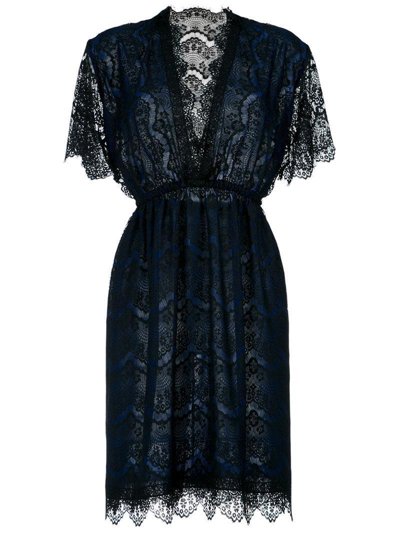 À La GarÇOnne Lace Dress In Blue