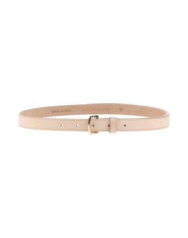Dsquared2 Thin Belt In Beige