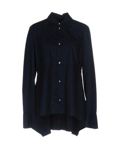 Diesel Black Gold Solid Color Shirts & Blouses In Dark Blue