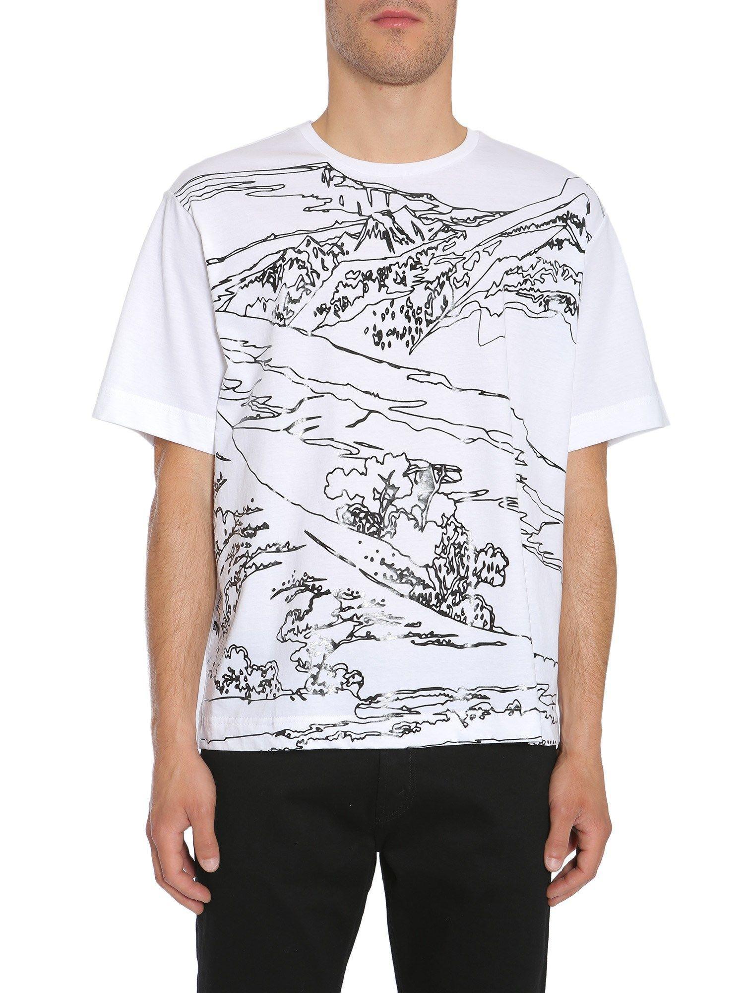 Diesel Black Gold Round Collar T-Shirt In Bianco