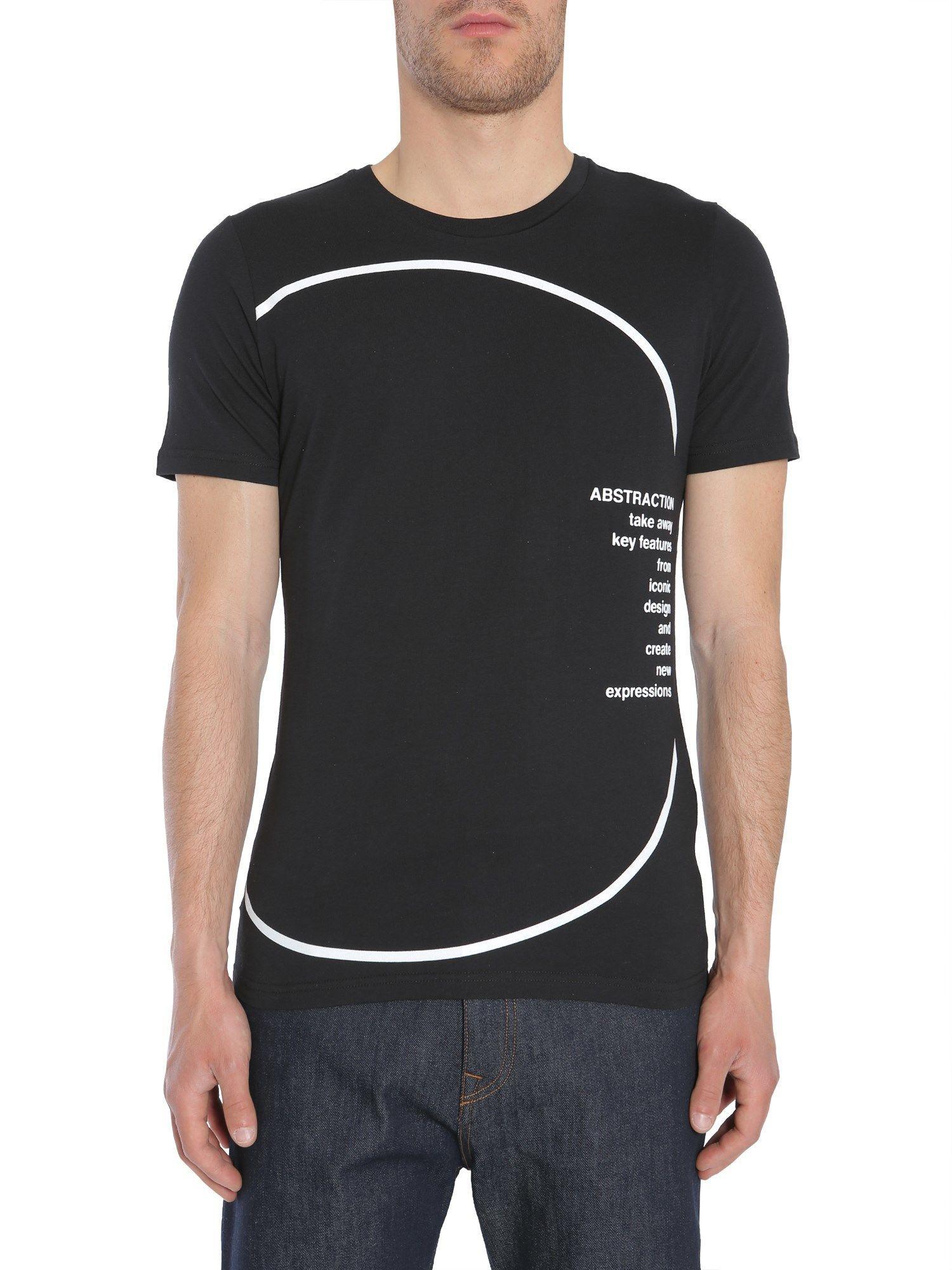 Diesel Black Gold Ty-Circle T-Shirt In Nero