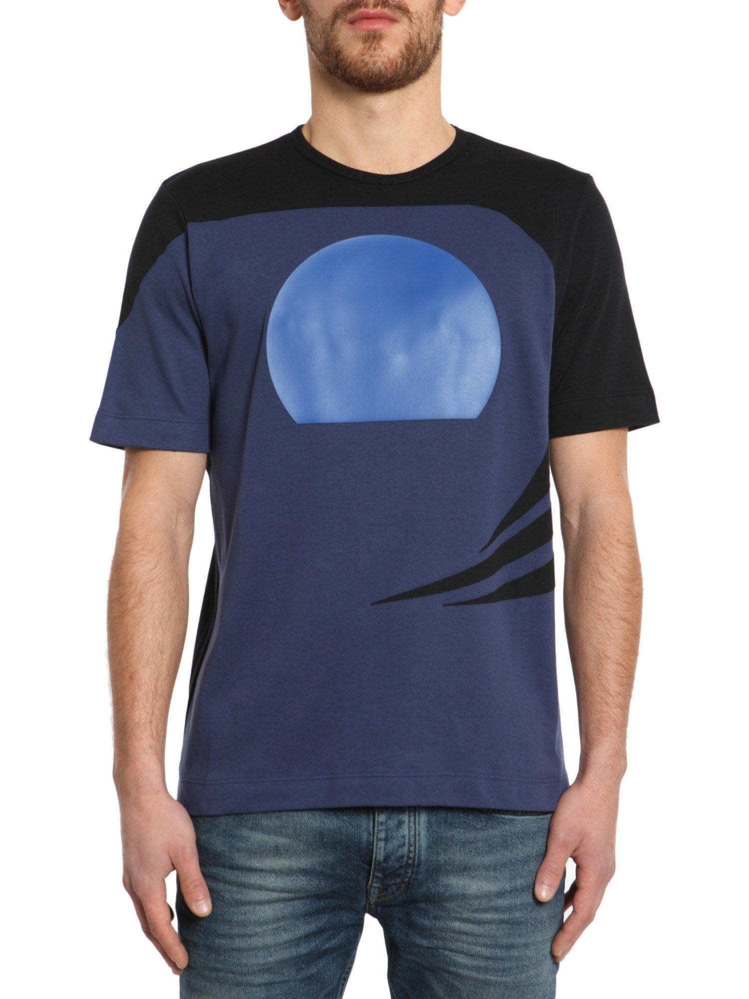 Diesel Black Gold Crew-Neck T-Shirt In Blu