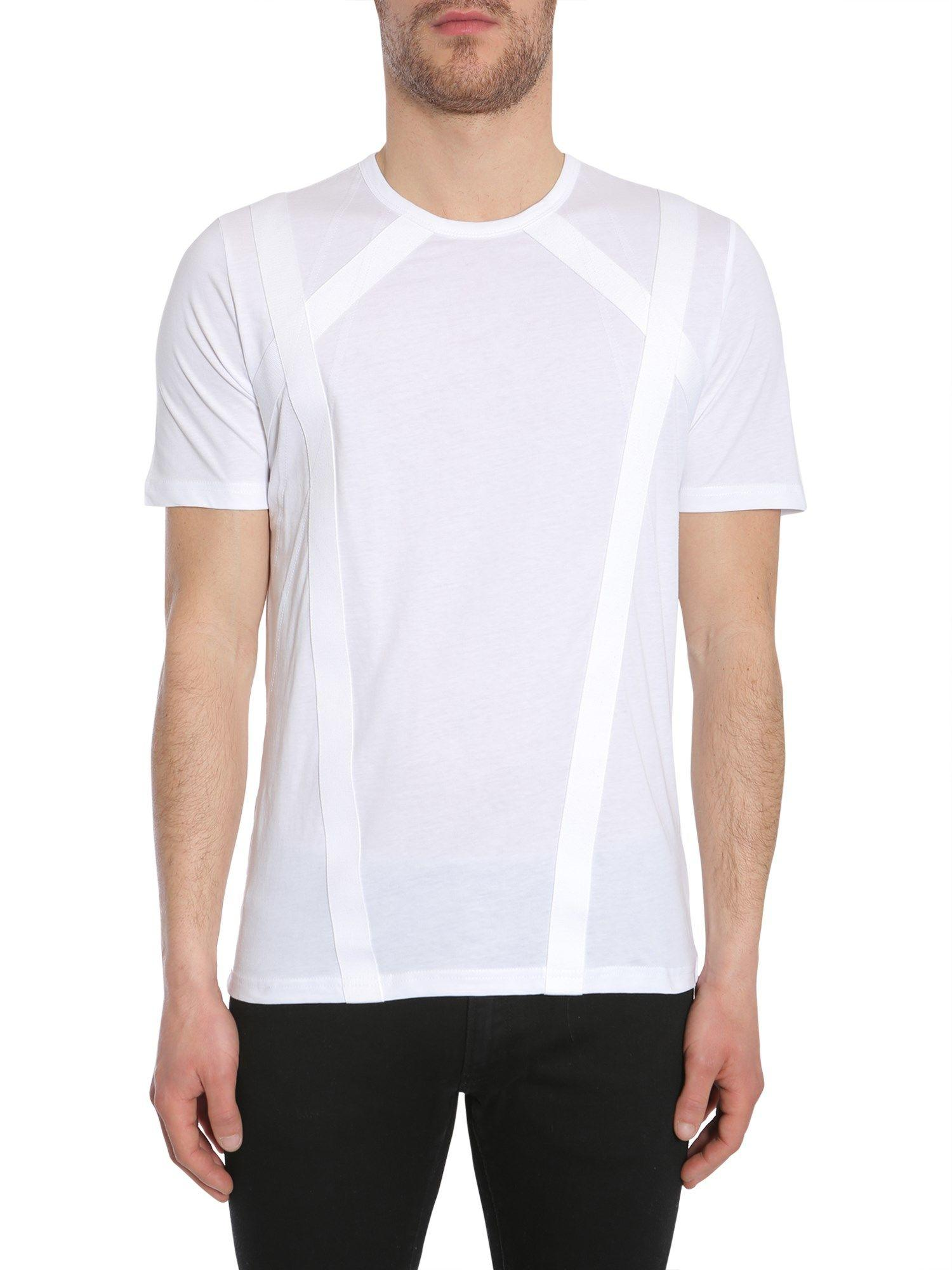Diesel Black Gold Tsquare T-Shirt In Bianco
