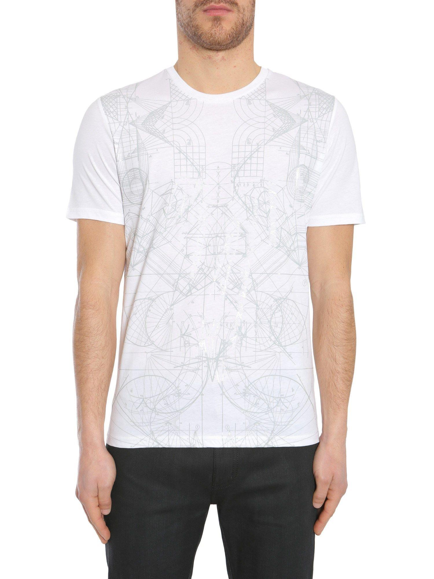 Diesel Black Gold Ty T-Shirt In Bianco