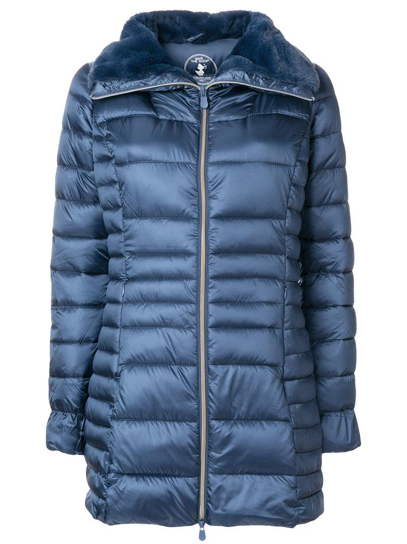 Save The Duck Padded Coat In Blue