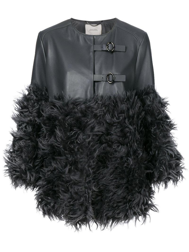 Dorothee Schumacher Fur Panelled Coat