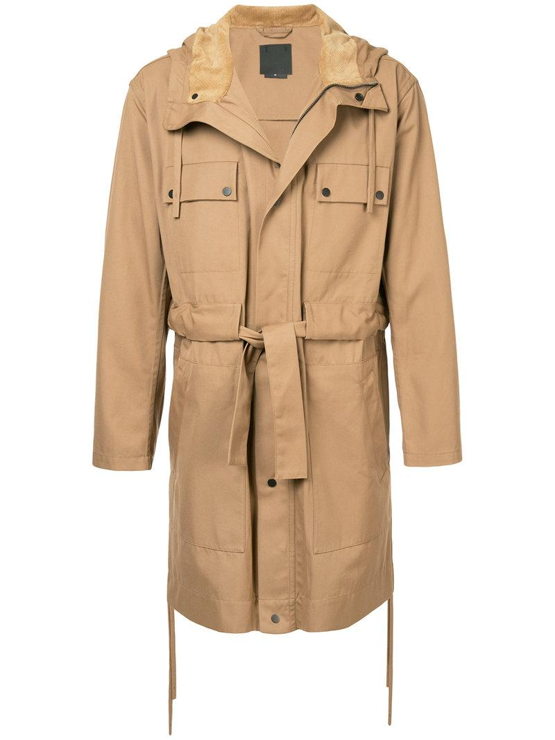 Craig Green Belted Trench Coat In Brown