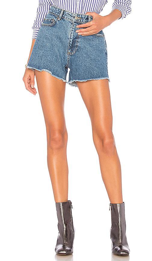 Anine Bing Denim Cut-Off Shorts In Blue
