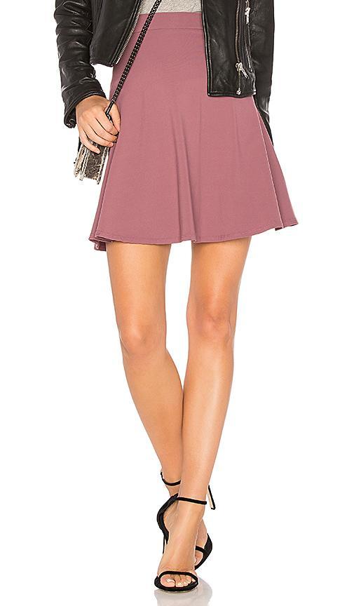 "Susana Monaco High Waist Flare 16"" Skirt In Mauve"