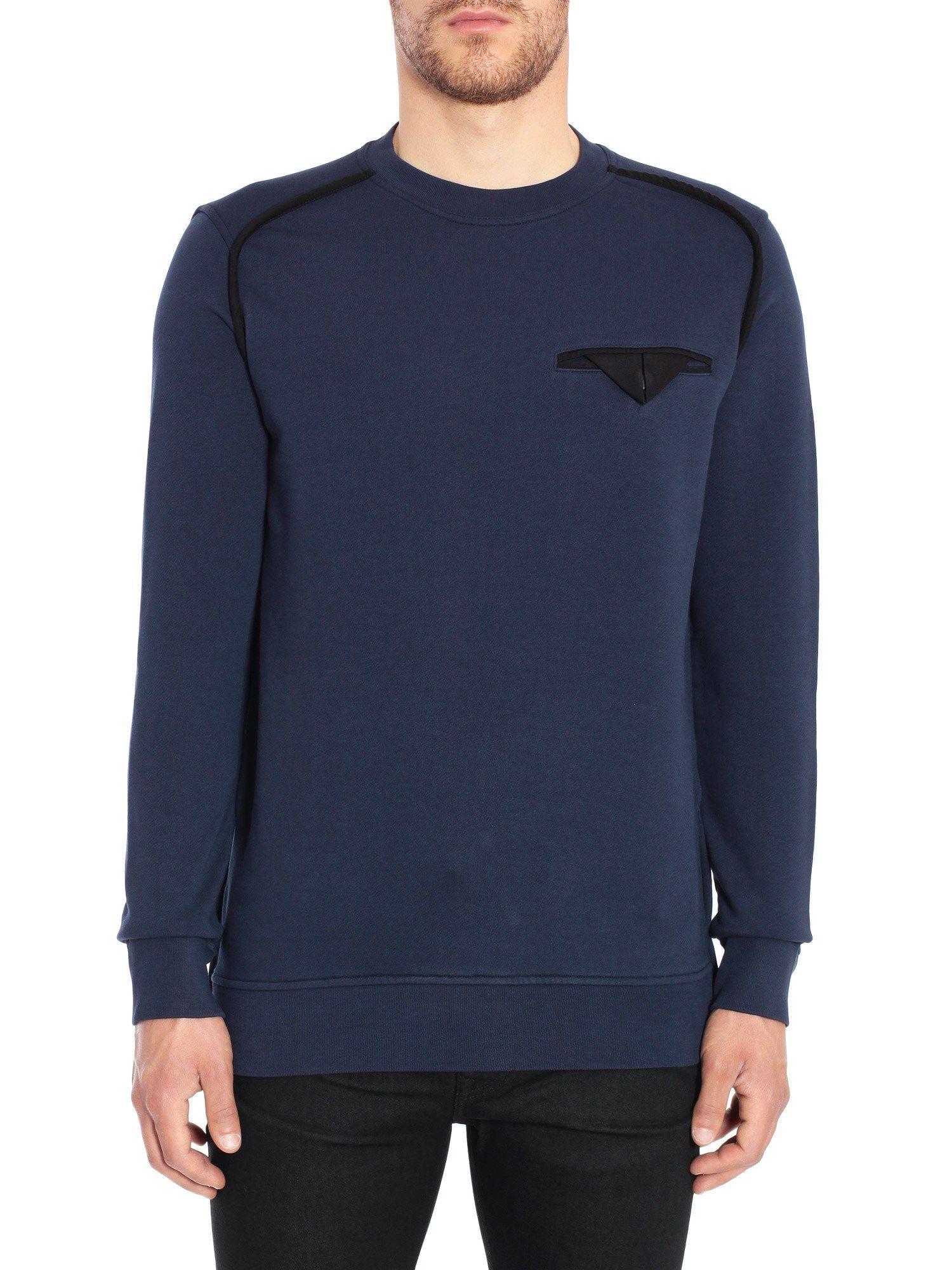Diesel Black Gold Spixa Sweatshirt In Blu