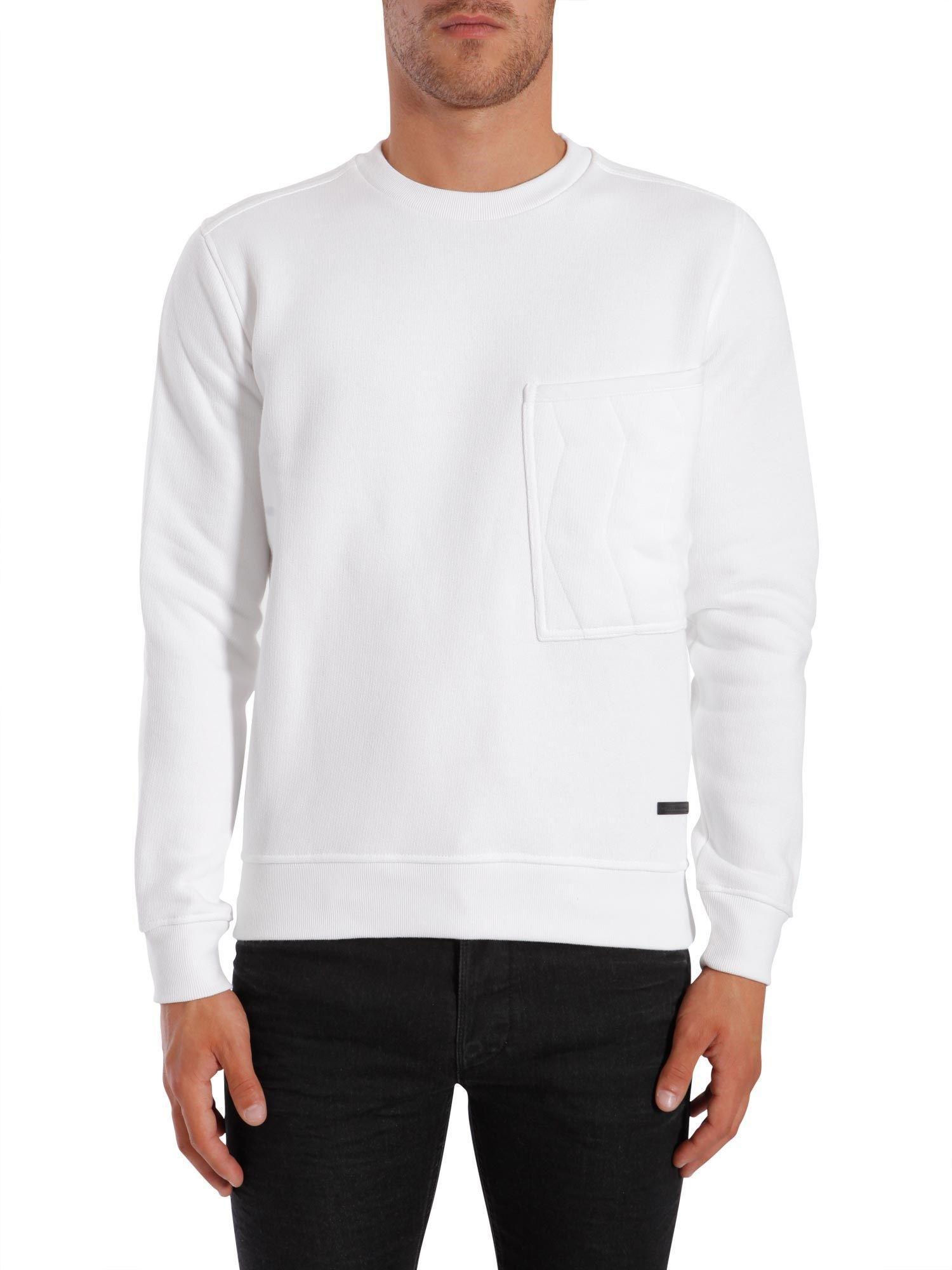 Diesel Black Gold Round Collar Sweatshirt In Bianco