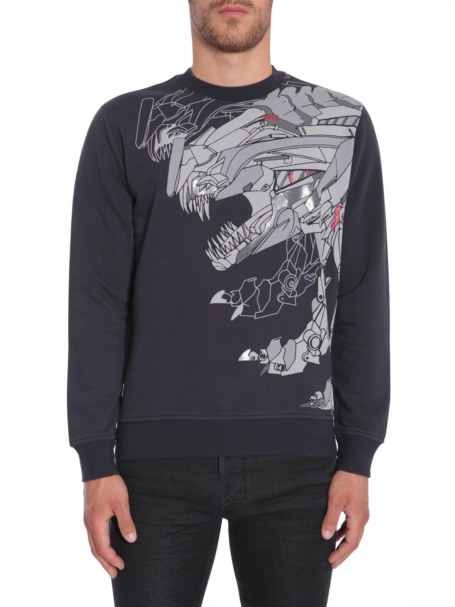 Diesel Black Gold Crew-Neck Sweatshirt In Blu