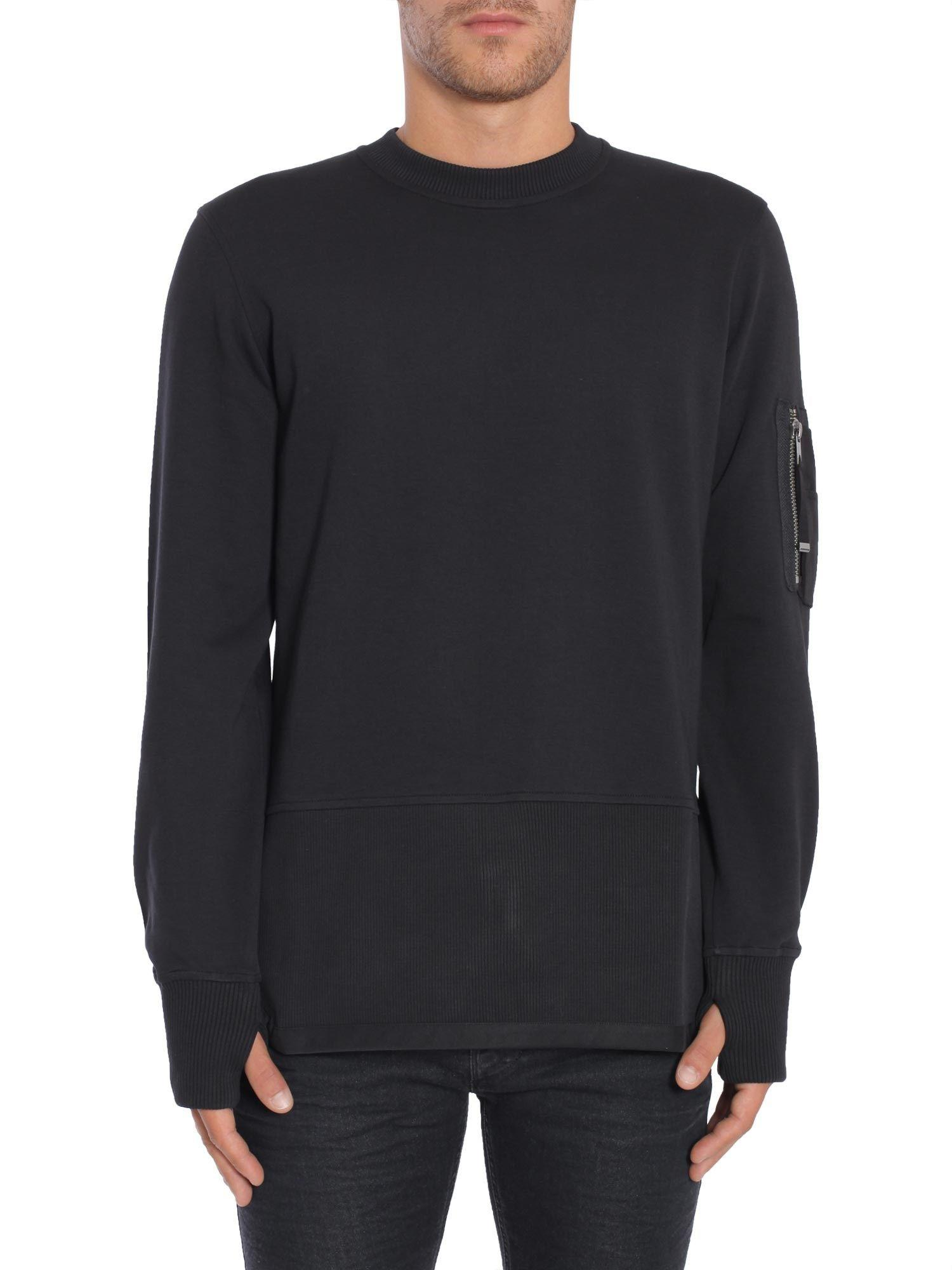 Diesel Black Gold Storney-Lf Sweatshirt In Nero