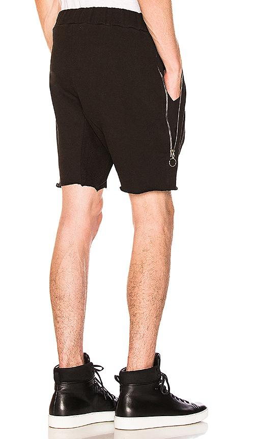Mr. Completely Zipper Shorts In Black