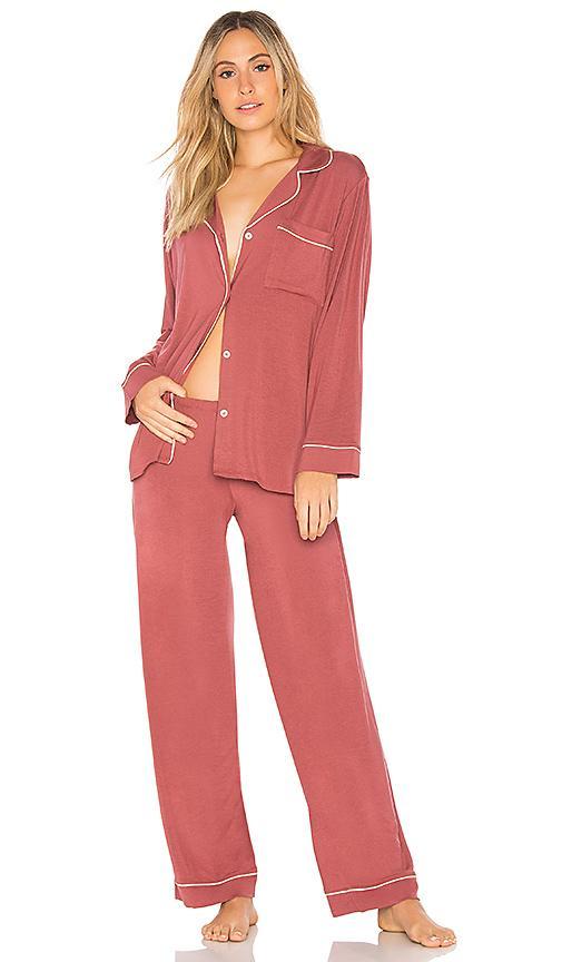 Eberjey Gisele Long Pj Set In Pink