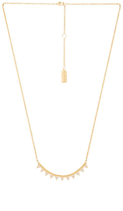 Melanie Auld Mini Triangle Bar Necklace In Metallic Gold