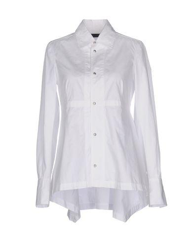 Diesel Black Gold Solid Color Shirts & Blouses In White