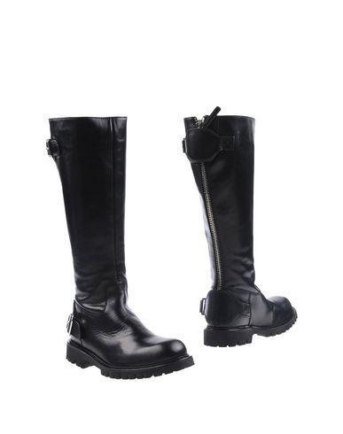 Diesel Black Gold Boots In Black