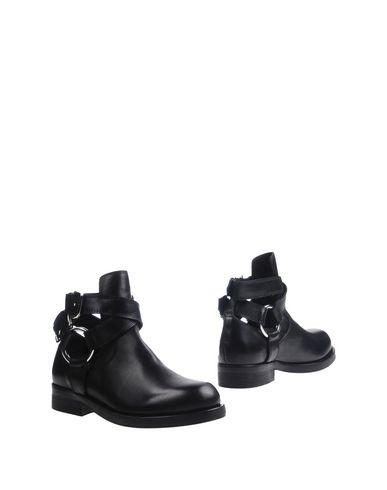 Diesel Black Gold Ankle Boots In Black