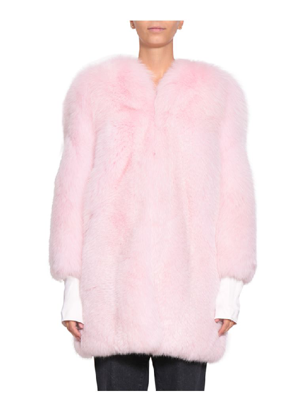 Magda Butrym Saint Petersburg Fur Coat In Rosa