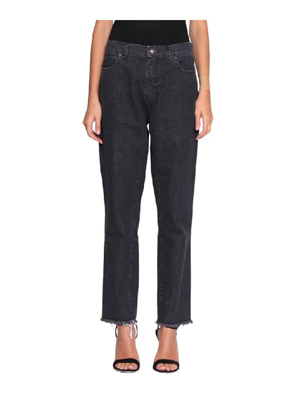Magda Butrym Evansville Cotton Denim Jeans In Grigio