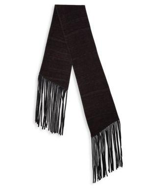 John Varvatos Double Layer Wool Scarf In Bordeaux