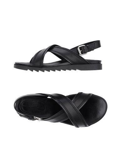 Diesel Black Gold Sandals In Black