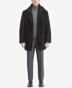 Calvin Klein Men's Big & Tall Coleman Overcoat In Black