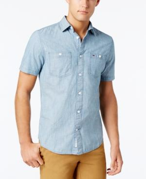 Tommy Hilfiger Men's Classic-Fit Light Chambray Shirt