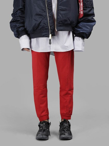 Vetements Men's Red Fitted Jogging Pants