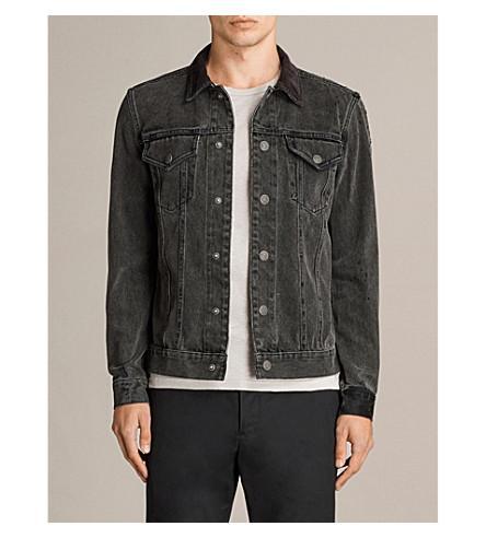 Allsaints Baton Denim Jacket In Black