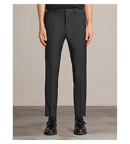 Allsaints Vernon Regular-Fit Wool-Blend Trousers In Charcoal Grey