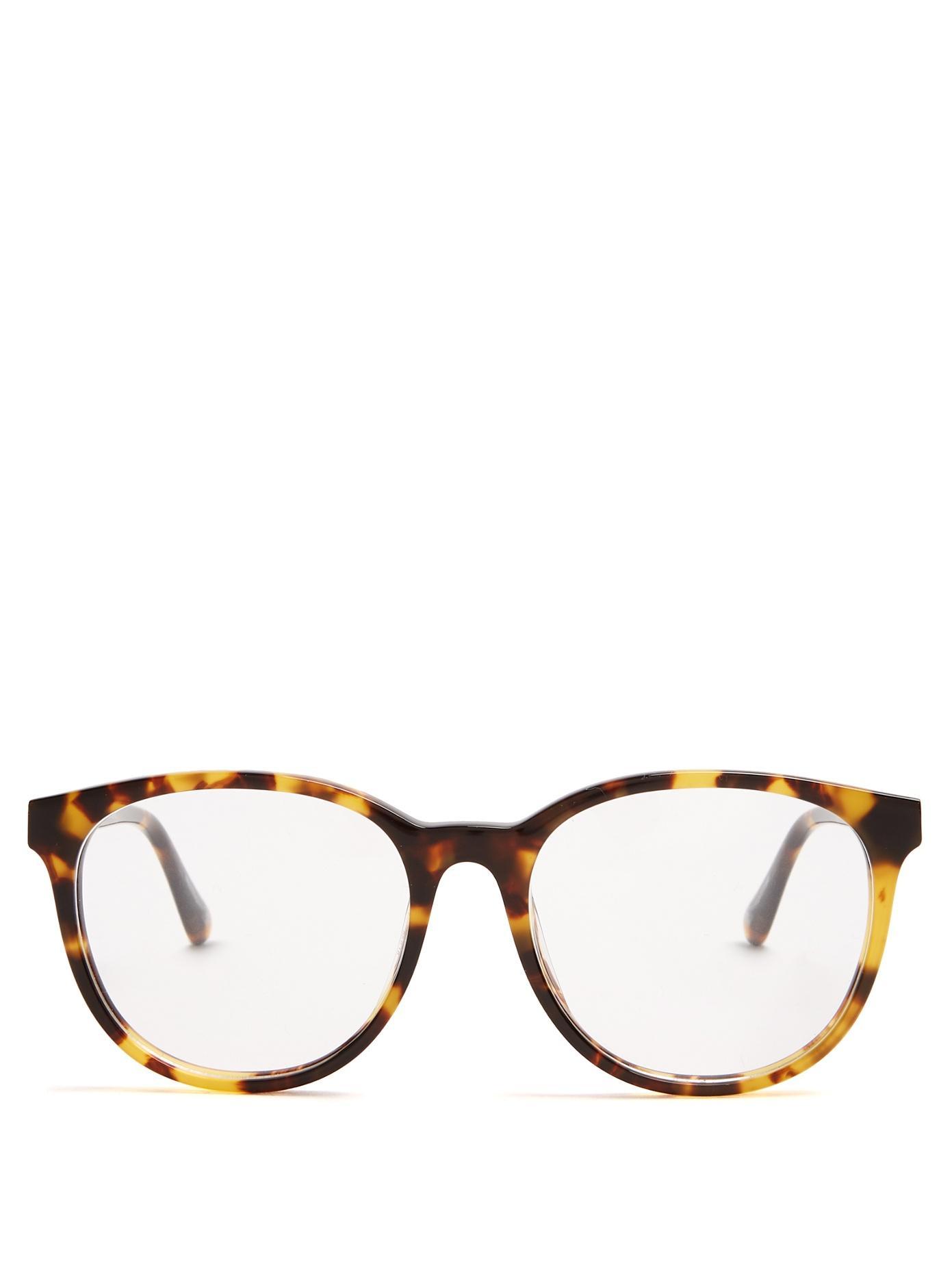 Stella Mccartney - Falabella Round Frame Acetate Glasses - Womens - Tortoiseshell