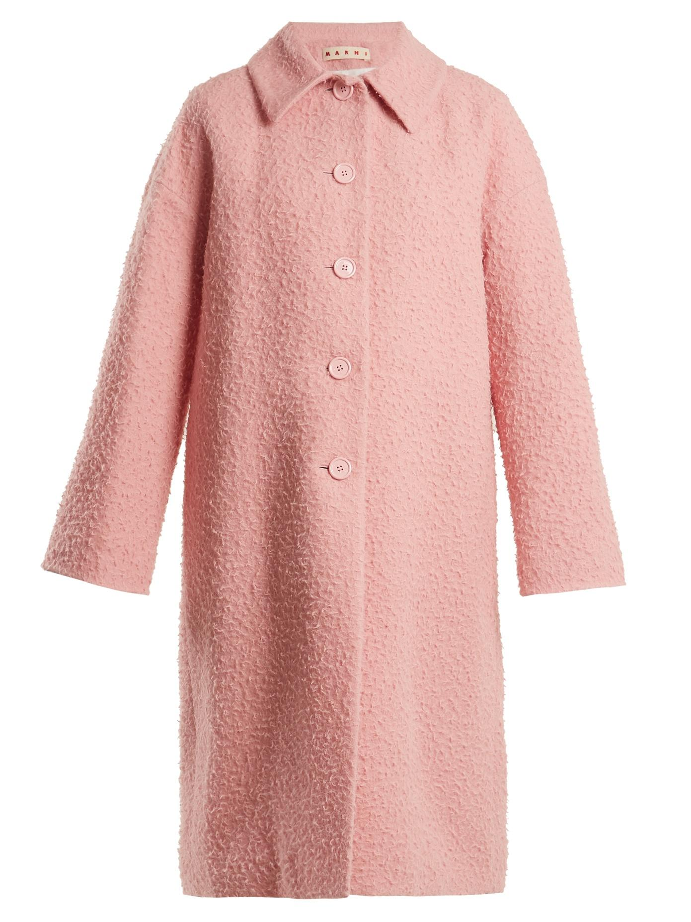 Marni Single-Breasted Alpaca And Silk-Blend Coat In Pink