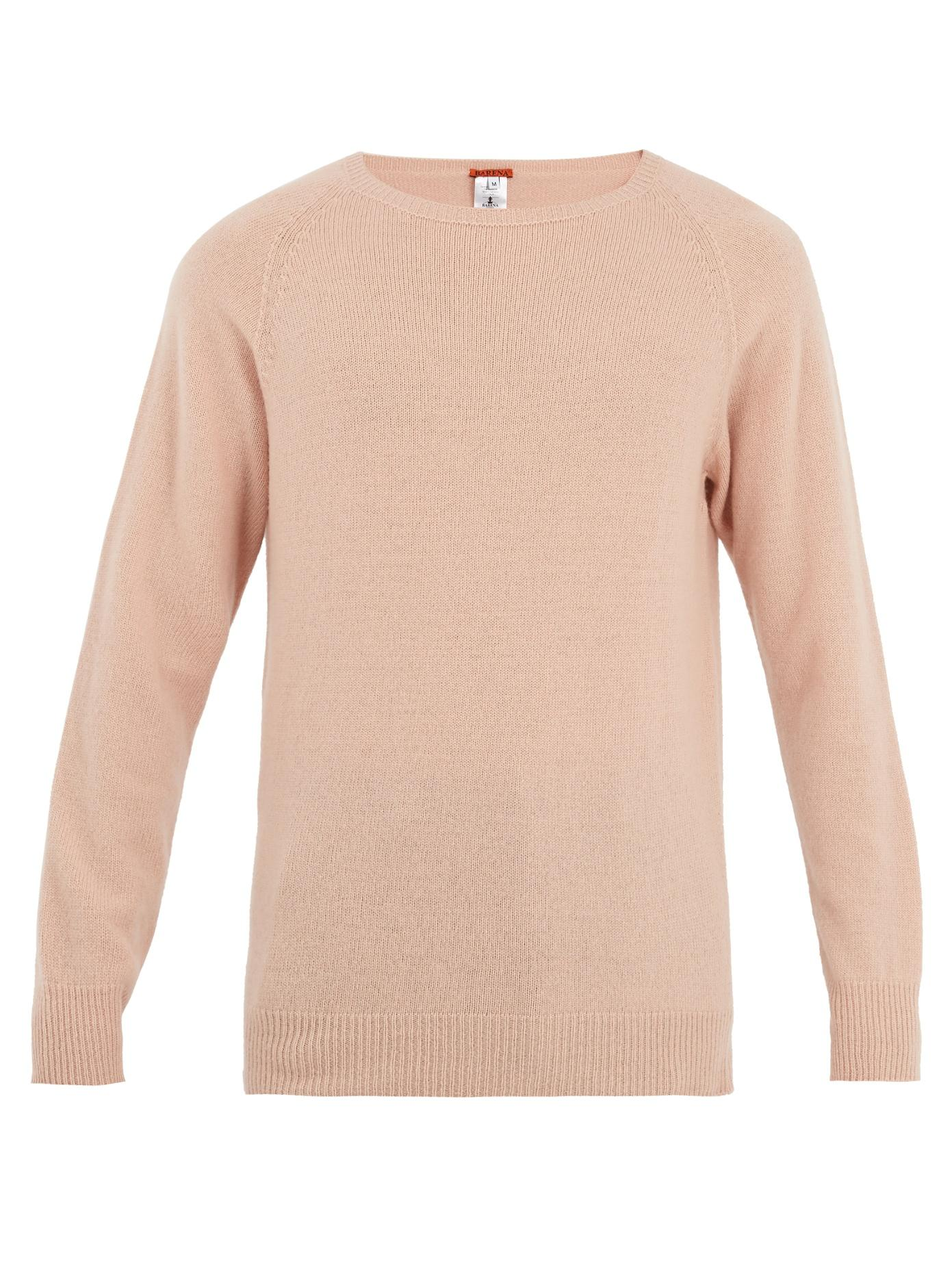 Barena Venezia Long-Sleeved Wool And Cashmere-Blend Sweater In Pink