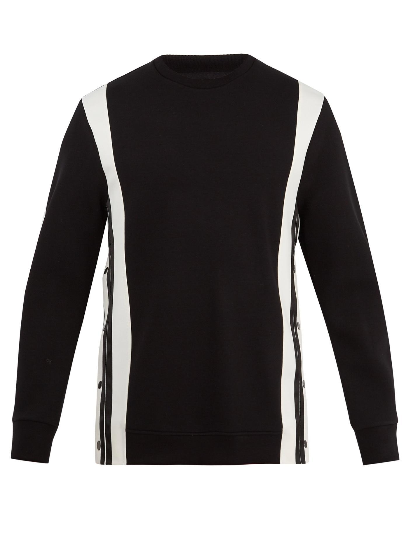 Neil Barrett Black & Off-White Side Snaps Sweatshirt In 042 Black/Off White