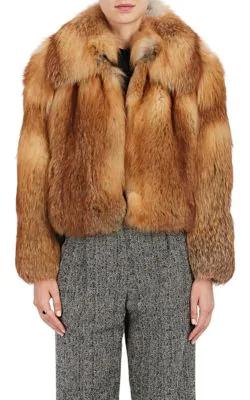 A.L.C Lex Long-Sleeve Fox-Fur Coat In Multi