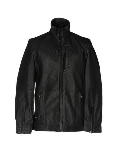 Diesel Black Gold Leather Jacket In Black